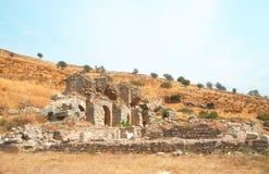 Oude stad van Ephesus, Turkije Royalty-vrije Stock Foto's