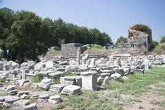 Oude Stad van Ephesus. Turkije Stock Foto