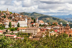 Oude stad van Fianarantsoa stock foto