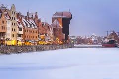 Oude Stad van Gdansk, Polen Stock Afbeeldingen