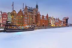 Oude Stad van Gdansk, Polen Stock Foto