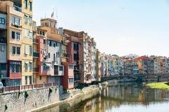 Oude stad van Girona Royalty-vrije Stock Foto