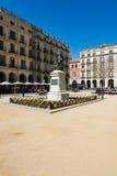 Oude stad van Girona Stock Afbeeldingen