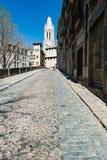Oude stad van Girona Stock Fotografie