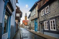Oude stad van goslar, Duitsland stock afbeeldingen