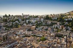 Oude stad van Granada, in Spanje royalty-vrije stock fotografie