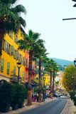 Oude stad van Grasse, stad in de Provence beroemd voor zijn parfumindustrie, historische gebouwen in het centrum van grasse, Fran Stock Foto's