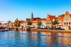 Oude Stad van Haarlem, Nederland stock foto's