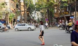 Oude stad van Hanoi Vietnam royalty-vrije stock afbeelding