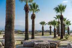 Oude stad van Hierapolis Stock Afbeeldingen