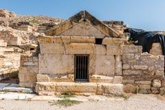 Oude stad van Hierapolis in Pamukkale, Turkije stock fotografie