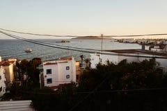 Oude stad van Ibiza de Baleaarse Spanje Stock Afbeelding