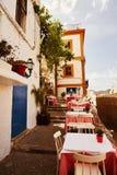 Oude stad van Ibiza de Baleaarse Spanje Royalty-vrije Stock Afbeeldingen