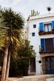 Oude stad van Ibiza de Baleaarse Spanje Royalty-vrije Stock Foto