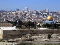 Oude Stad van Jeruzalem Stock Afbeeldingen