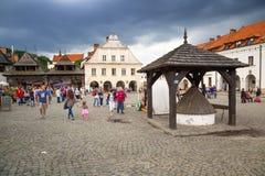 Oude stad van Kazimierz Dolny in Polen Royalty-vrije Stock Afbeelding