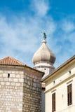 Oude stad van Krk, Middellandse-Zeegebied, Kroatië, Europa Stock Afbeeldingen