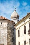 Oude stad van Krk, Middellandse-Zeegebied, Kroatië, Europa Stock Fotografie