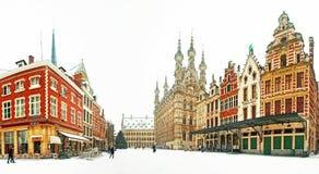 Oude stad van Leuven stock foto