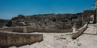 Oude stad van Matera in Zuiden van Italië stock foto's
