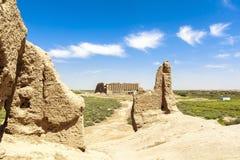 Oude stad van Merv in Turkmenistan stock afbeelding