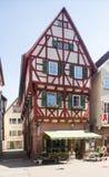 Oude stad van Mosbach in Zuidelijk Duitsland stock foto