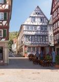 Oude stad van Mosbach in Zuidelijk Duitsland royalty-vrije stock foto