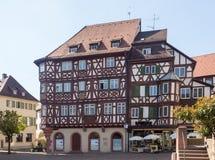 Oude stad van Mosbach in Zuidelijk Duitsland royalty-vrije stock foto's