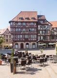 Oude stad van Mosbach in Zuidelijk Duitsland stock foto's