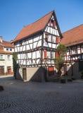 Oude stad van Mosbach in Zuidelijk Duitsland stock afbeeldingen