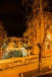 Oude Stad in Stad van Nice bij Nacht Stock Foto's