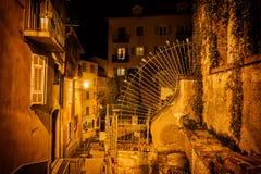 Oude Stad van Nice 's nachts in Frankrijk Royalty-vrije Stock Fotografie