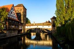 Oude stad van Nuremberg royalty-vrije stock foto