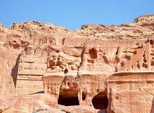 Oude stad van Petra Stock Fotografie