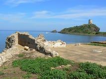 Oude stad van Pula, Sardinige Stock Afbeeldingen