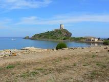 Oude stad van Pula, Sardinige Stock Foto's