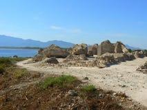 Oude stad van Pula, Sardinige Stock Fotografie