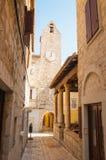 Oude stad van Rab op het Eiland Rab, Kroatië, een charmante historische stad Royalty-vrije Stock Fotografie