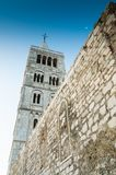 Oude stad van Rab op het Eiland Rab, Kroatië, een charmante historische stad Royalty-vrije Stock Foto's