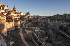Oude stad van Segovia en omgeving Spanje Royalty-vrije Stock Foto's