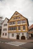 Oude stad van Slechte Urach in Zuidelijk Duitsland Stock Afbeeldingen