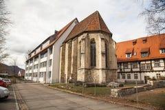 Oude stad van Slechte Urach in Zuidelijk Duitsland Stock Fotografie
