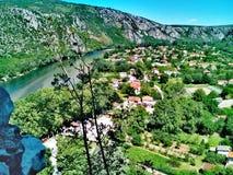 Oude stad van stenen, PoÄ  itelj - Bosnië-Herzegovina royalty-vrije stock afbeeldingen