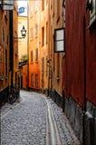 Oude stad van Stockholm stock afbeeldingen