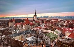 Oude stad van Tallinn Stock Fotografie