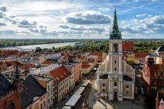 Oude stad van Torun Stock Afbeelding