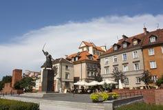Oude Stad van Warshau, Polen Stock Foto