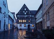 Oude stad van Weimar bij zonsopgang Royalty-vrije Stock Foto