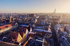 Oude stad van Wroclaw royalty-vrije stock afbeelding