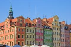 Oude stad van Wroclaw, Polen royalty-vrije stock foto